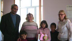 Armenische Familie mit Patin
