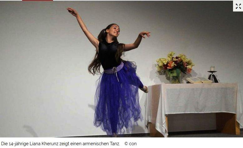 Ein junges Mädchen tanzt Ballett